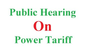 Public Hearing on power tariff