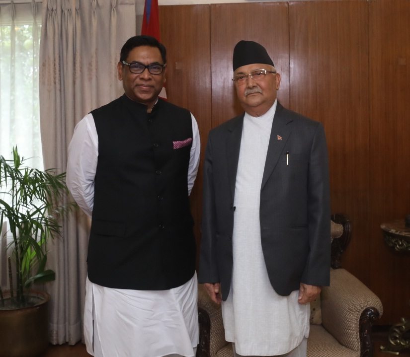 nosrul hamid with nepal pm