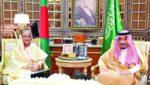 সৌদি আরবের বাদশাহ সালমান বিন আবদুল আজিজ আল সৌদের সাথে প্রধানমন্ত্রী শেখ হাসিনা